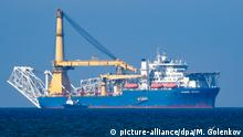 The Russian pipe layer vessel Akademik Cherskiy