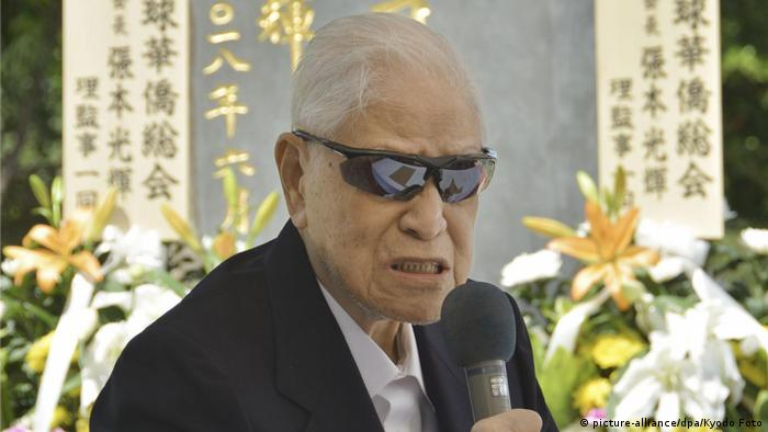 Japan Okinawa | Taiwans Ehemaliger Präsident Lee Teng-hui (picture-alliance/dpa/Kyodo Foto)