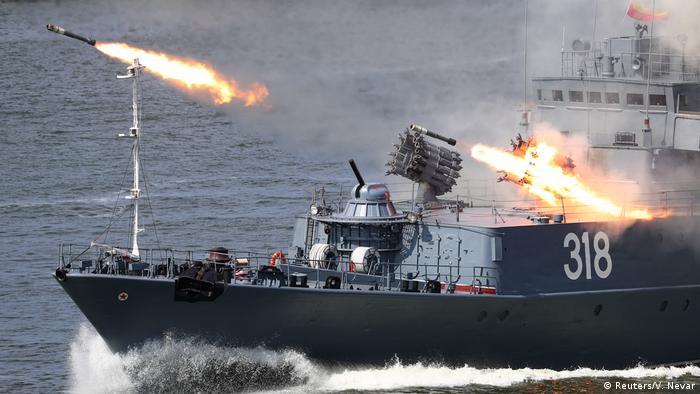 Russland | Tag der Marine | Putin kündigt Hyperschallwaffen für Kriegsschiffe an (Reuters/V. Nevar)