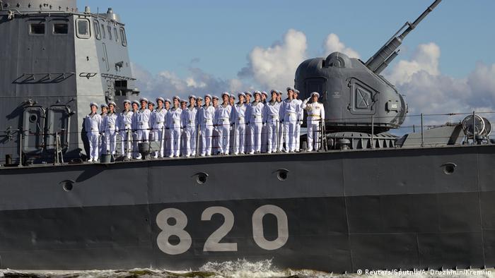 Russland | Tag der Marine | Putin kündigt Hyperschallwaffen für Kriegsschiffe an (Reuters/Sputnik/A. Druzhinin/Kremlin)