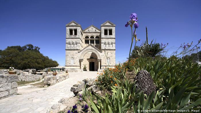 The Church of the Transfiguration, on Mount Tabor, in Israel