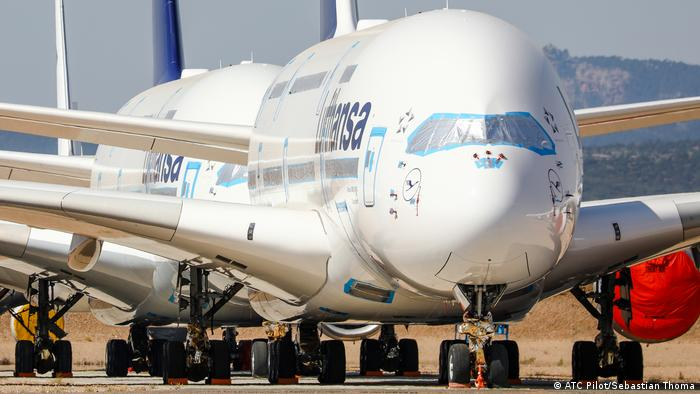 Geparkter Airbus A380 von Lufthansa in Teruel / Spanien (ATC Pilot/Sebastian Thoma)