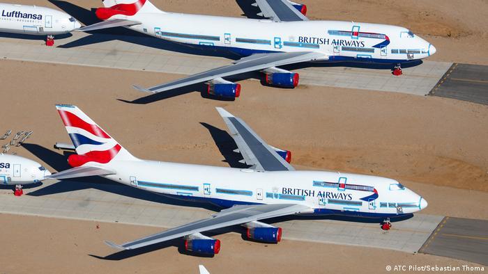 British Airways mothballed it 747 fleet. Their last trip will be to a scrapyard in Terue, Spain