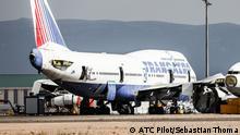 Ausgemusterte Boeing 747 in Teruel / Spanien
