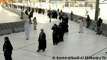 29.07.2020 *** Muslim pilgrims perform Tawaf (Kaaba circling) at the Grand mosque during the annual Haj pilgrimage amid the coronavirus disease (COVID-19) pandemic, in the holy city of Mecca, Saudi Arabia July 29, 2020 in this still image taken from a video. Saudi Al Ekhbariya TV/Handout via REUTERS ATTENTION EDITORS - THIS PICTURE WAS PROVIDED BY A THIRD PARTY. SAUDI ARABIA OUT. NO COMMERCIAL OR EDITORIAL SALES IN SAUDI ARABIA NO RESALES. NO ARCHIVES