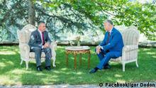 Republik Moldau Präsident Igor Dodon und Vadim Krasnoselski in Condrita