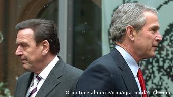 Deustchland Schröder und Bush gehen auseinander