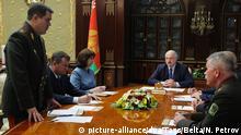 Weißrussland Präsident Lukaschenko leitet Sicherheitsratssitzung