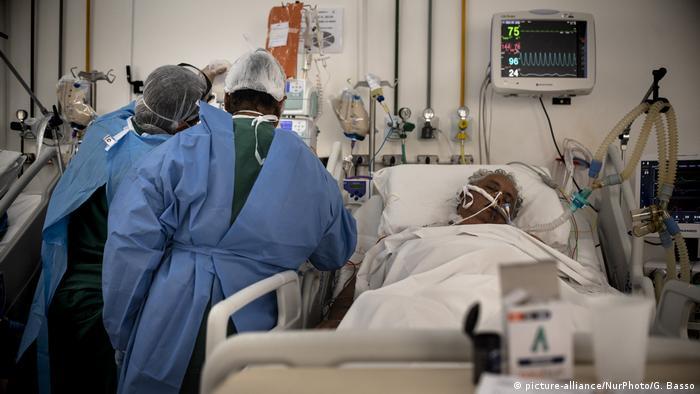 Paciente de covid no Brasil