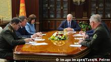 MINSK, BELARUS - JULY 29, 2020: Belarus President Alexander Lukashenko C holds a meeting with members of the Security Council of Belarus at the Independence Palace. Nikolai Petrov/BELTA/TASS PUBLICATIONxINxGERxAUTxONLY TS0E1996