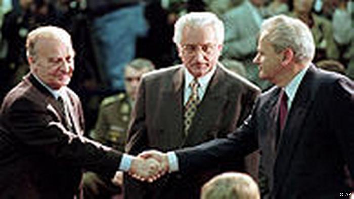Tuđman, Milošević, Izetbegović u Daytonu 1995. godine