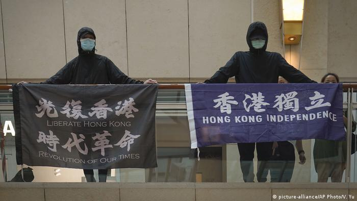 Hongkong Protest für Unabhängigkeit von China (picture-alliance/AP Photo/V. Yu)