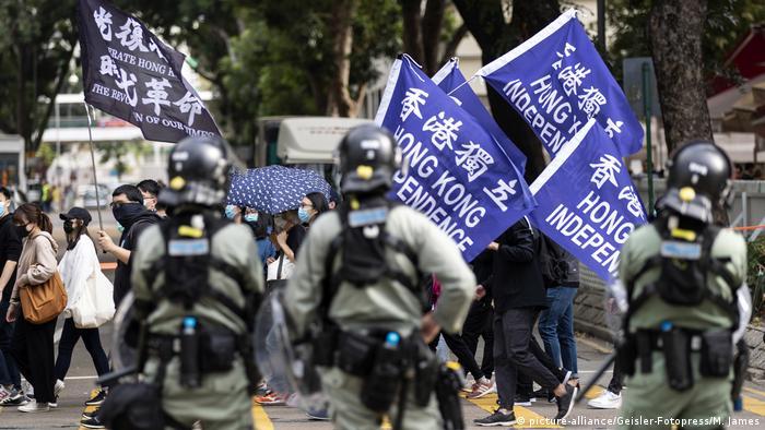 Hongkong Protest für Unabhängigkeit von China (picture-alliance/Geisler-Fotopress/M. James)