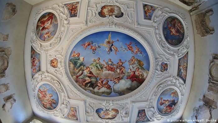Потолок главного зала замка Хундисбург