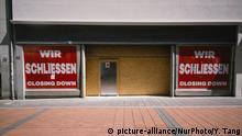 Deutschland Coronavirus Lockdown geschlossene Geschäfte in Bonn