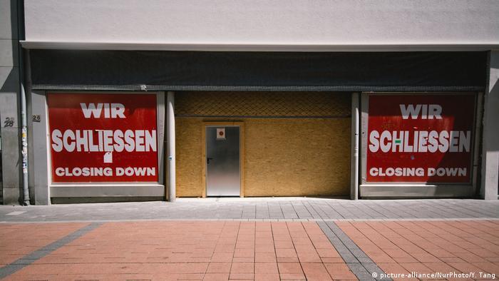 Deutschland Coronavirus Lockdown geschlossene Geschäfte in Bonn (picture-alliance/NurPhoto/Y. Tang)