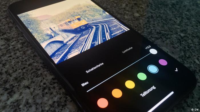 DW Shift: Bildbearbeitungsapp VSCO auf iPhone für DW Shift