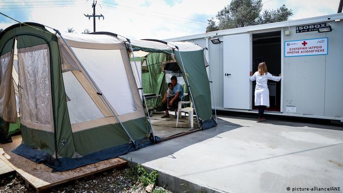 Griechenland Das Empfangs- und Identifikationszentrum von Moria auf der Insel Lesbos (picture-alliance/ANE)