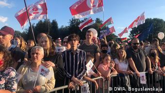 Belarus Minsk Konzert zum Wahlkampf der Opposition