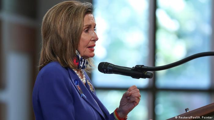 USA Trauerfeier John Lewis in Atlanta | Nancy Pelosi (Reuters/Pool/A. Pointer)