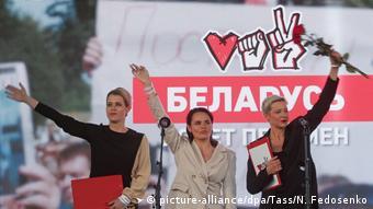 Weißrussland Wahlen Demonstration der Oppsition in Minsk (picture-alliance/dpa/Tass/N. Fedosenko)