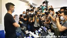 Hongkong Aktivist Joshua Wong bei einer Konferenz