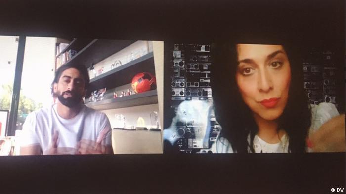 Screenshot Zoom Call Juli 2020 | Anas Bukhash mit Diana Hodali