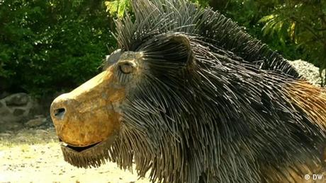 Eco Africa - The art of Kioko Mwitiki, a lion made of recycled metals