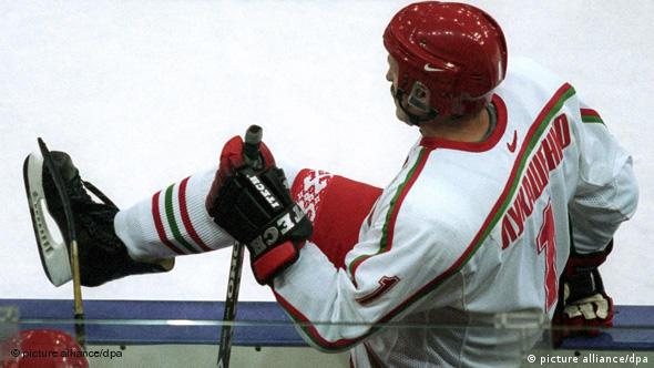 Александр Лукашенко в хоккейной форме