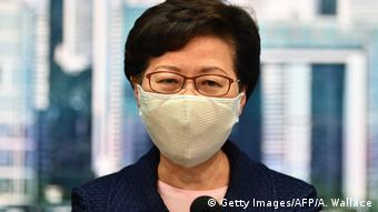 Hongkong Regierungschefin Carrie Lam (Getty Images/AFP/A. Wallace)