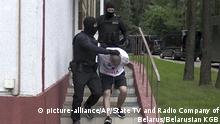Weißrussland Festgenommene Russen bei Minsk