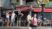 Frankreich | Coronavirus | Maske | Quiberon