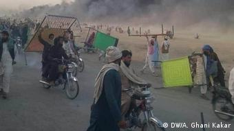 Grenze Afghanistan - Pakistan, Chaman |Protest
