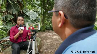 DW Akademie, Colombia, Festival Gabo: CEPRA community reporter at work