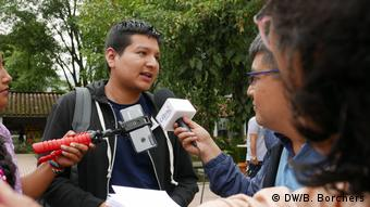 DW Akademie, Colombia, Festival Gabo: Arnol Piedra from Peruan news agency Servindi: A long list of international contacts