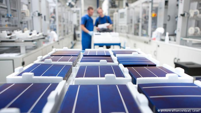 A solar power factory in Germany