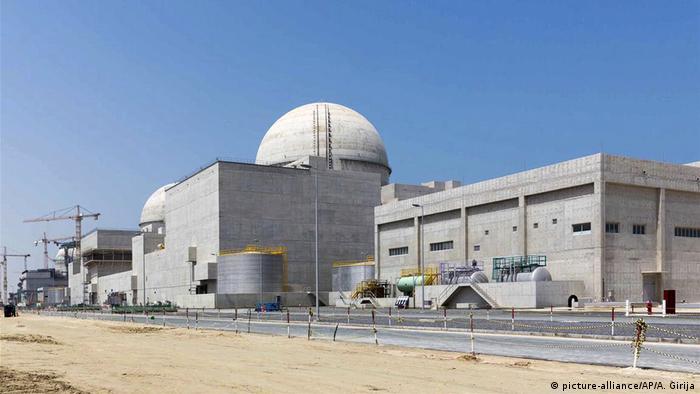 The Barakah nuclear power plant under construction in the western desert of Abu Dhabi