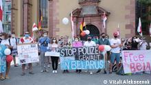 Deutschland Aktion in Frankfurt am Main für freie Wahlen in Belarus