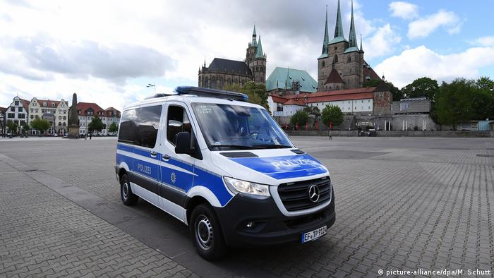 الشرطة الألمانية في ايرفورت