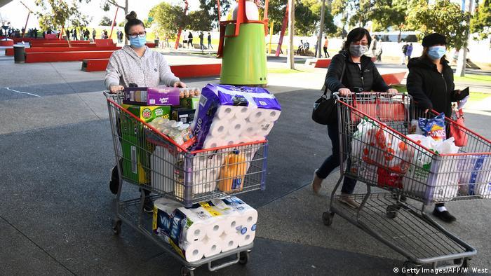 Australien Melbourne | Coronavirus | Neue Corona-Einschränkungen (Getty Images/AFP/W. West)