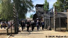 Polen I Gedenkfeier am Europäischen Holocaust Gedenktag für die Roma in Ausschwitz