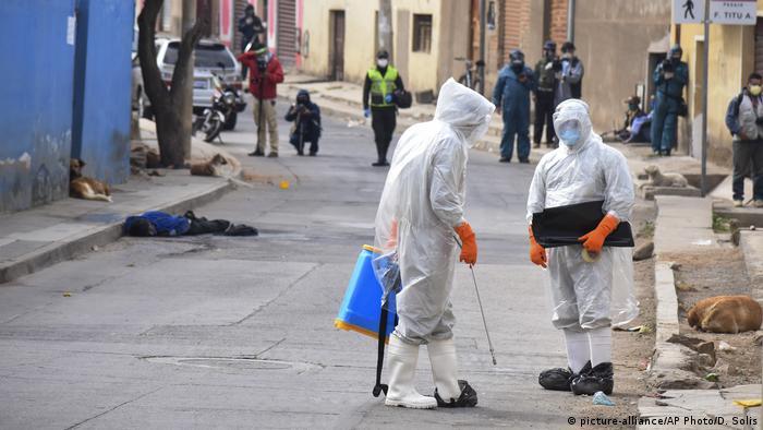 Bolivien Corona-Pandemie | Cochabamba (picture-alliance/AP Photo/D. Solis)