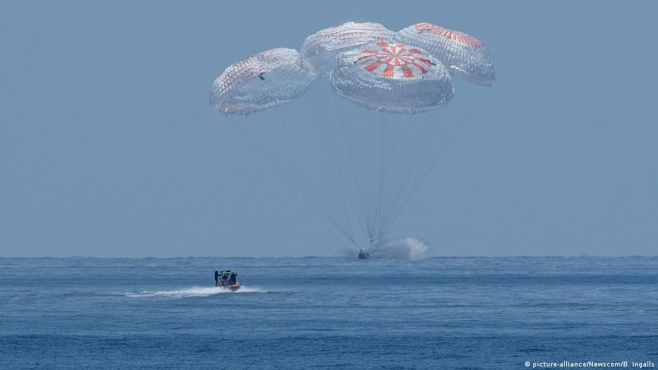 NASA astronauts splash down aboard SpaceX capsule off Florida