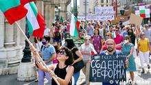 Österreich   Protest gegen bulgarische Regierung in Wien