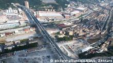 A general view of the new Genoa motorway bridge construction site, in Genoa, Italy, 01 August 2020. The new bridge is under construction after the Morandi highway bridge partially collapsed on 14 August 2018, killing a total of 43 people. ANSA/LUCA ZENNARO |