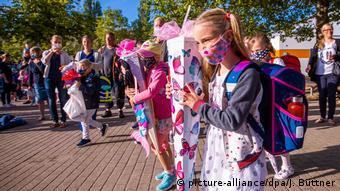 «Πρωτάκια» με μάσκα τη Δευτέρα στο Σβερίν της βόρειας Γερμανίας