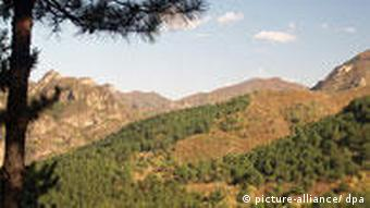 A reforestation project in Miyun, China
