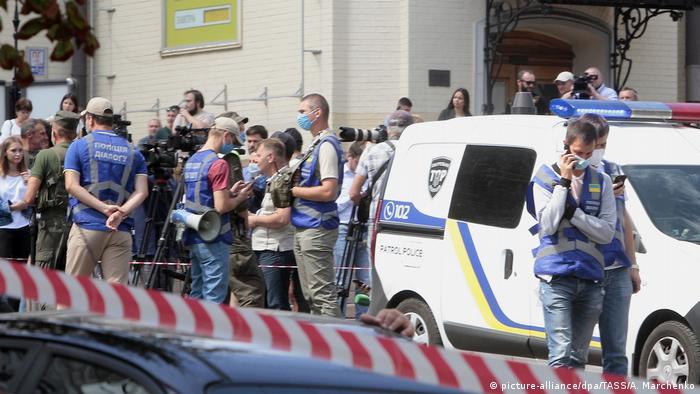 У филиала киевского банка, который угрожал взорвать злоумышленник