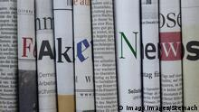 Fake news spelt out of newspapers