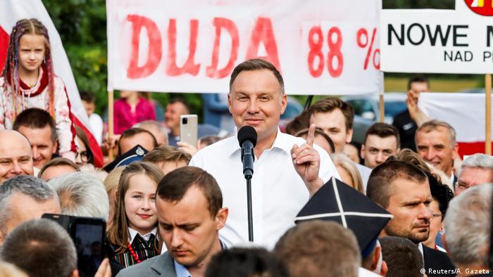 Президент Польши Анджей Дуда со своими сторонниками (фото из архива)